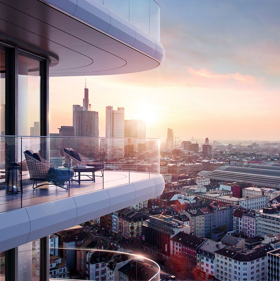 Grand Tower Frankfurt City Superior Luxus Mietwohnungen
