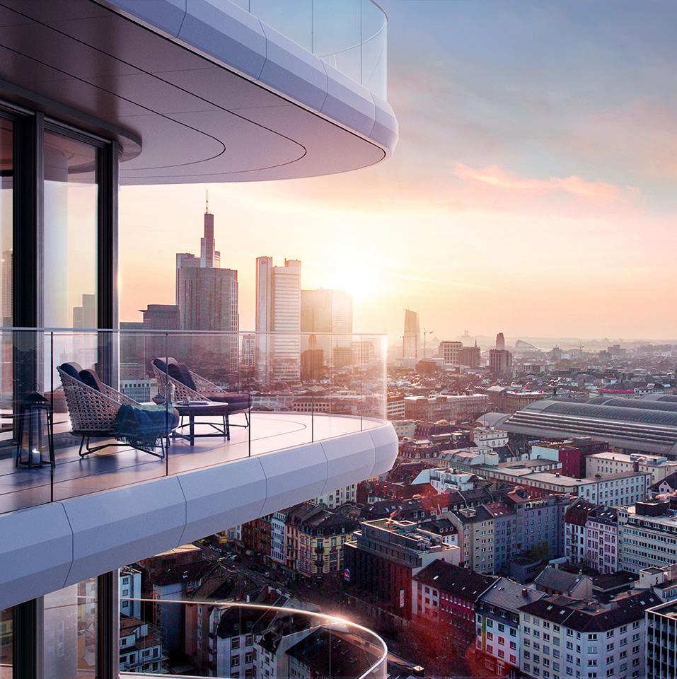 Grand Tower Frankfurt City Superior Luxus Mietwohnungen